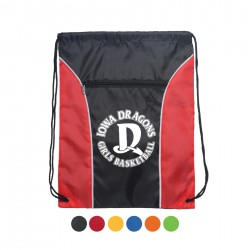 Drawstring Backpack - Two Tone Polyester Drawstring Bags